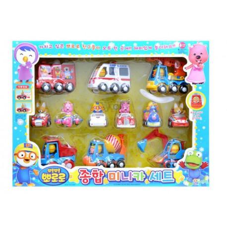the little penguin, pororo - friction mini car set