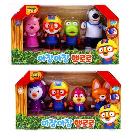 4 friends of pororo,wind up a spring,no battery is required 4pcs
