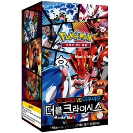 "pokemon card xy concept pack ""magma vs aqua double crisis box"" korean ver"