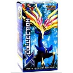 x samling pokemon kortspil xy booster box koreansk