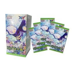 pokemon card tidal storm booster box korean ver