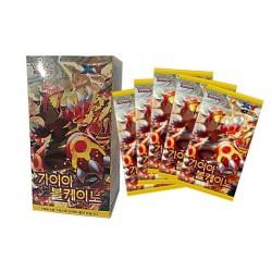 pokemon kortin gaia tulivuoren booster laatikko korean ver