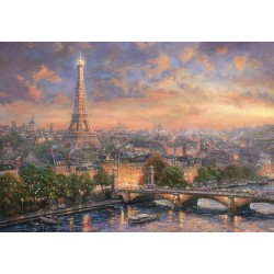 jigsaw puzzle paris city of love 1000pcs by thomas kinkade