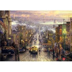 palapelit 1000 palaa sydämessä San Francisco Thomas Kinkade