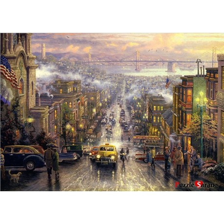 jigsaw puzzles 1000 pieces the heart of san francisco thomas kinkade