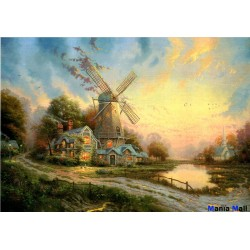 Puzzle-uri de 1000 de bucăți cântec de vânt Thomas Kinkade