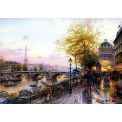 jigsaw puzzles 1000 pieces street of art thomas kinkade
