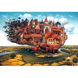 puzzle 1000 sztuk ładowanie miasta Jacek Yerka