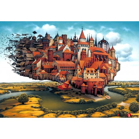 jigsaw puzzles 1000 pieces loading cities jacek yerka