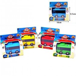 маленький автобус Tayo мини литой металл набор игрушек Tayo роги рани Гани 4шт