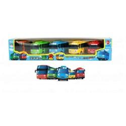 5бр малкия автобус tayo триене мини колата