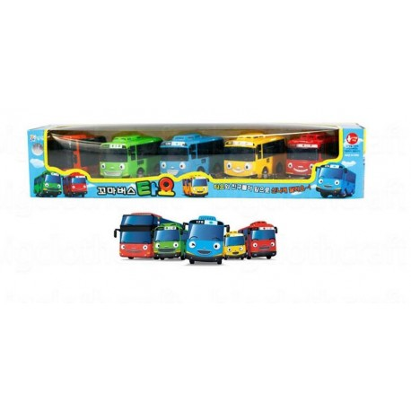 5pcs the little bus tayo friction mini car