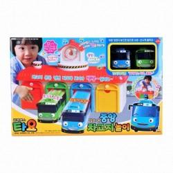 el pequeño Tayo bus garaje principal con Tayo y efecto de sonido de voz bus rogi