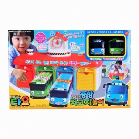the little bus tayo main garage with tayo and rogi bus sound voice effect