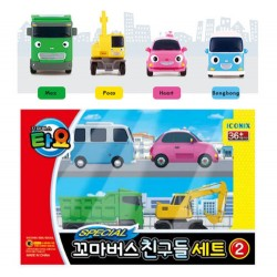 the little bus tayo friends 4 pcs set v2 toy cars bongbong heart max poco