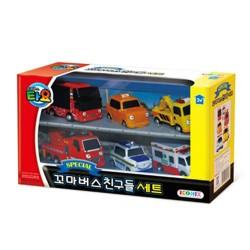 pikku bussi Tayo erityinen asetettu 6 kpl leluautot