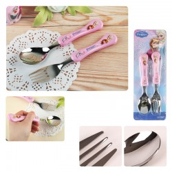 disney frozen elsa anna spoon fork flatware utensils mealtime