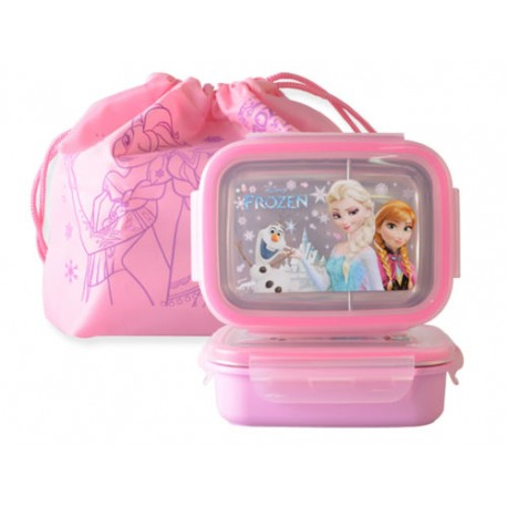 disney frozen lunch box bag bento 2storage stainless picnic elsa anna characters