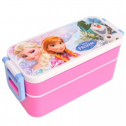 disney frozen lunch box bento 2 tiers plastic with chopsticks elsa anna