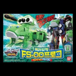 Bandai power rangers tokumei Sentai gå busters dx frosk fs 00 fs 0o