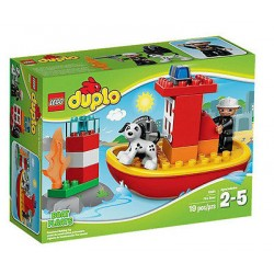 lego duplo 10591 town fire boat 19pcs set new in box