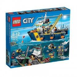 LEGO pilsēta 60095 pilsētu pētnieki dziļjūras izpētes kuģis komplekts kaste noslēdzamas