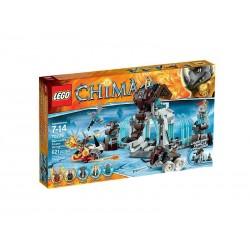チマのマンモスの冷凍牙城ビルのレゴ伝説がボックスに新しい設定70226