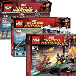 lego iron man 3 marvel super heroes 76006 76007 76008 full set package series