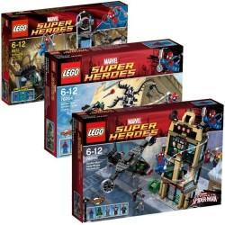lego spider man marvel super heroes 6873 76004 76005 full set package series