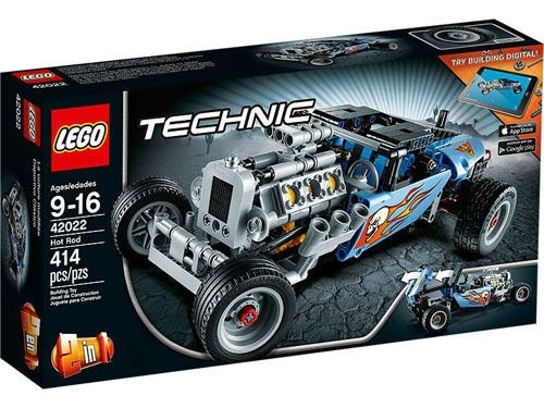 Lego Technic 42022 Hot Rod 414pcs Set New In Box Sealedhellotoysnet