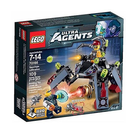 lego ultra agents 70166 spyclops infiltration set new in box sealed