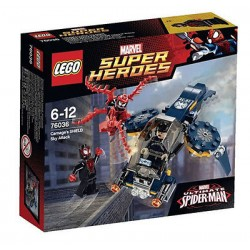 lego super heroes 76036 carnage's shield sky attack set in new box sealed