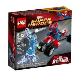lego supersankareista 76014 hämähäkin trike vs elektro asettaa uusia kohtaan suljettu