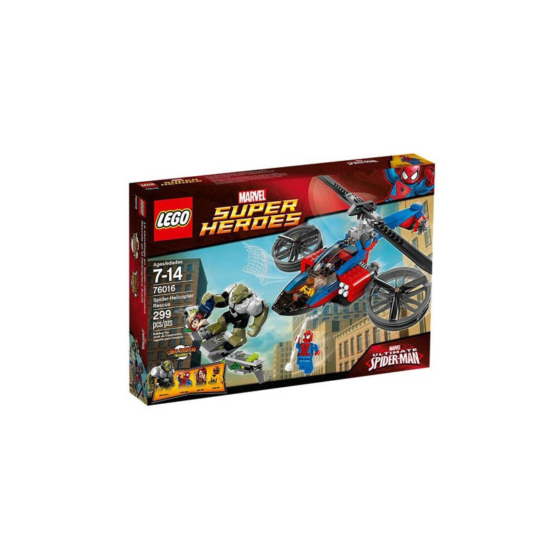 lego super heroes 76016 spider helicopter rescue set new