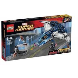 lego superhjältar 76032 hämnarna quinjet stad jaga som nytt i rutan förseglade