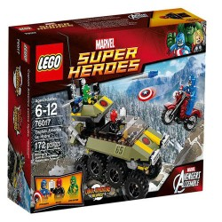 lego supersankareista 76017 Captain America vs hydra asettaa uusia kohtaan suljettu