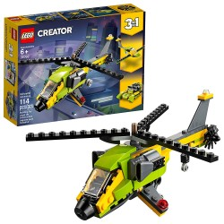 lego creator 3in1 helicopter adventure 31092