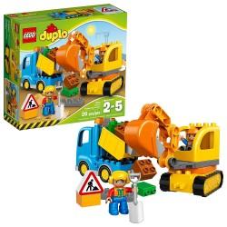 lego duplo town truck tracked excavator 10812