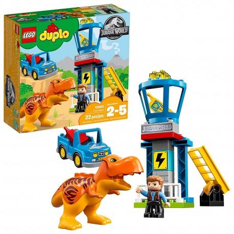 lego duplo jurassic world t rex tower 10880