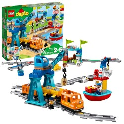lego duplo cargo train 10875 battery operated building blocks set best engineering and stem toy for toddlers