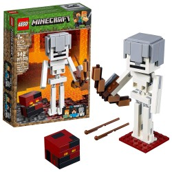 lego minecraft bigfig skeleton with magma cube 21150