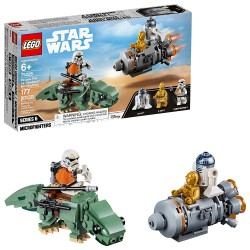 lego star wars a new hope escape pod vs dewback microfighters 75228