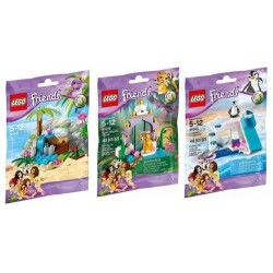 LEGO Friends Series 4 Animal Set: Tiger, Penguin & Turtle Package FULL SET