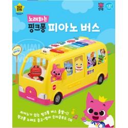 pinkfong shark family piano bus