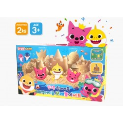 pinkfong shark family magic table sand play set