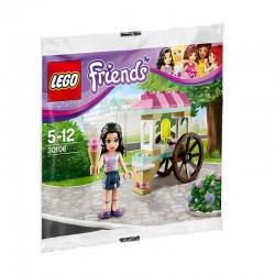 レゴ友人エマアイスクリームは、密封されたボックスに新しい30106スタンド