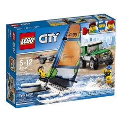 lego city great vehicles 4x4 with catamaran 60149