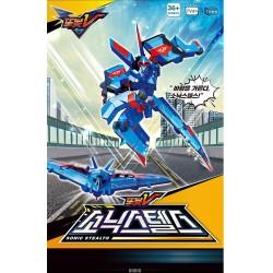 tobot v sonic stealth blue boomber transformer robot