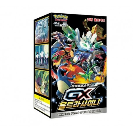 pokemon card gx ultra shiny high class booster box korean