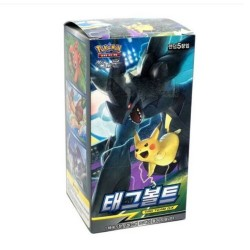 pokemon cards tag volt sm9 team up booster box korean ver